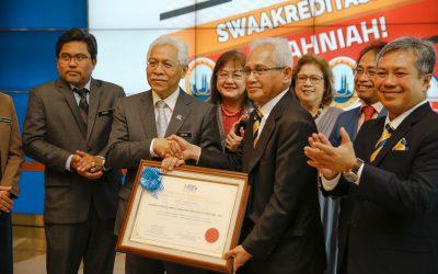 UniKL Awarded Self Accreditation Status by MQA
