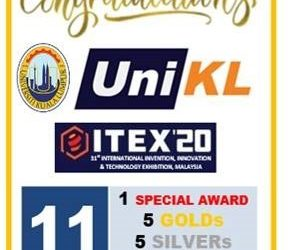 UniKL Clinch 11 Medals in ITEX 2020